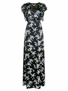 Veronica Beard Padma floral print maxi dress - Black