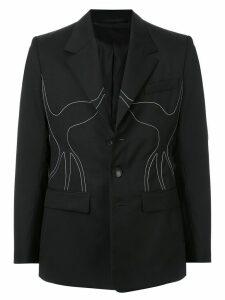 Namacheko embroidered single breasted blazer - Black