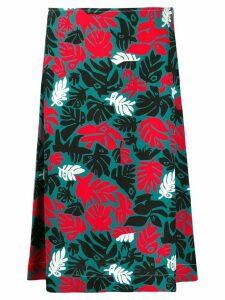 Marni botanical-print A-line skirt - Green