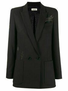 Zadig & Voltaire embellished double-breasted blazer - Black