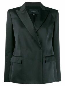 Giambattista Valli silk double-breasted blazer - Black