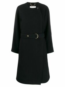 Chloé belted robe coat - Blue