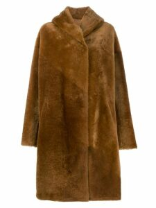 Liska single breasted coat - Brown