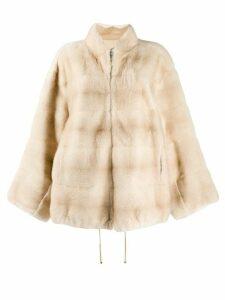 Liska oversized coat - NEUTRALS