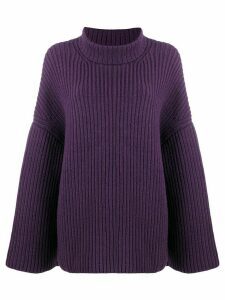 Nanushka ribbed knit roll neck jumper - PURPLE