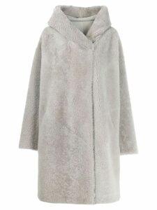 Liska oversized hooded coat - Grey