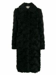 Mackintosh classic collar shearling coat - Black