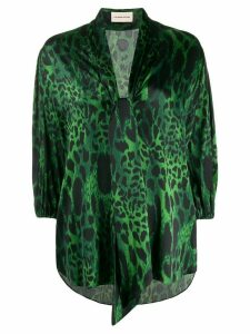 Alexandre Vauthier animal-print blouse - Green