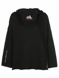 Haculla scribble oversized hoodie - Black