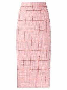 L'Autre Chose checked wrap skirt - Pink