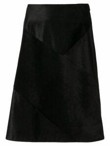 Des Prés corduroy patchwork skirt - Black