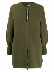 Love Moschino zipped cardi-coat - Green