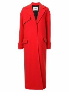MSGM long single-breasted coat - Red