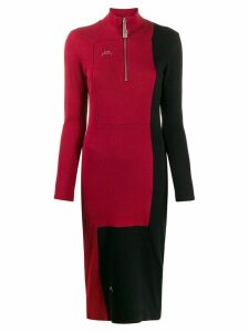 A-Cold-Wall* Divide two-tone dress - Red
