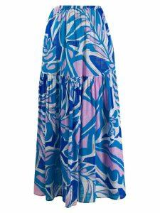 Emilio Pucci flared printed skirt - Blue