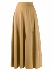 Federica Tosi draped wool blend midi skirt - Brown