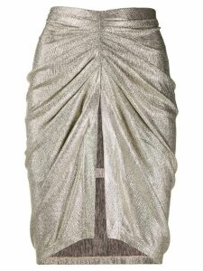 IRO ruched pencil skirt - GOLD