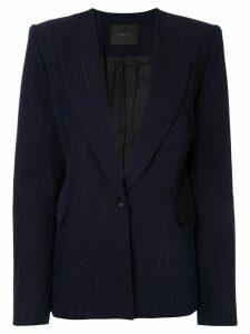 Dion Lee faded pinstripe blazer - Blue