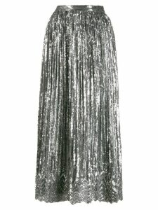 Marco De Vincenzo sequin-embellished pleated skirt - SILVER