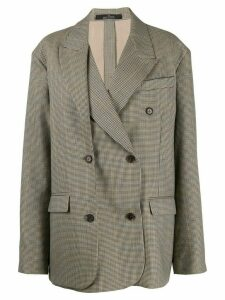 Rokh plaid oversize blazer - NEUTRALS