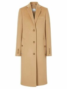 Burberry single-breasted tailored coat - NEUTRALS