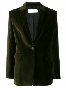 Closed single-breasted fitted blazer - Green