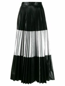 Christopher Kane laminated pleated skirt - Black