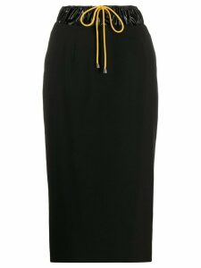 Aalto drawstring waist pencil skirt - Black