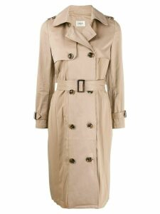 Jovonna double breasted trench coat - NEUTRALS