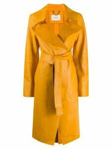 Dorothee Schumacher wide-lapel trenchcoat - Yellow
