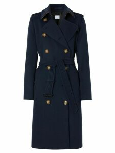 Burberry belted trench coat - Blue