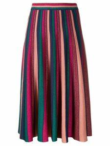Jonathan Simkhai pleated striped skirt - PINK