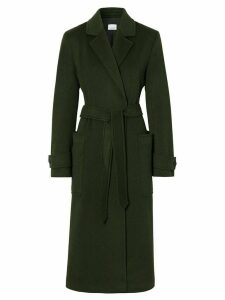 Burberry belted mid-length coat - Green