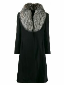 Alice+Olivia Vance flared coat - Black