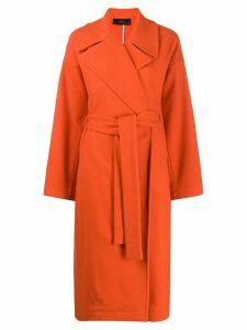 Maison Flaneur oversized cashmere coat - Orange