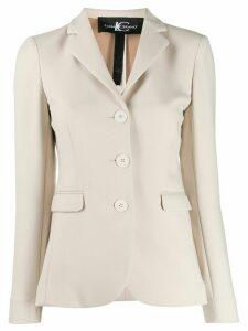 Luisa Cerano single-breasted fitted blazer - NEUTRALS