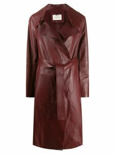 Dorothee Schumacher straight-fit trenchcoat - Red