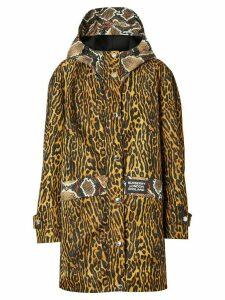 Burberry animal print hooded coat - Yellow