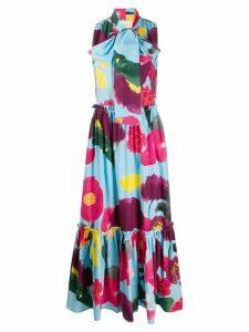 La Doublej Lou Lou floral print dress - Blue