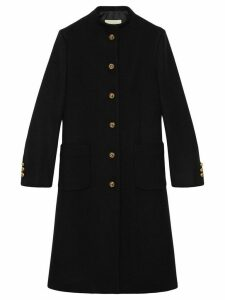 Gucci horsebit detail coat - Black
