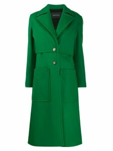 Cédric Charlier single-breasted midi coat - Green