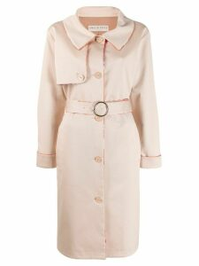 Emilio Pucci belted trench coat - NEUTRALS