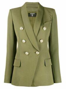 Balmain embossed buttons blazer - Green