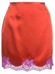 Fleur Du Mal James lace skirt - Red