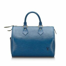 Louis Vuitton Blue Epi Speedy 30