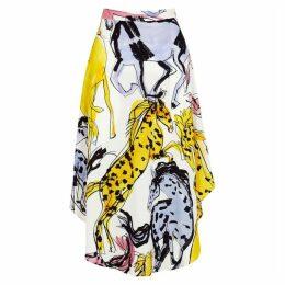 Stella McCartney Jacey Printed Asymmetric Midi Skirt