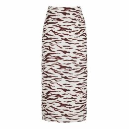 Rejina Pyo Mina Printed Satin Midi Skirt