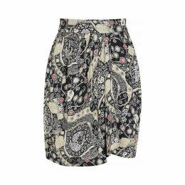 Isabel Marant Étoile Cegart Printed Draped Mini Skirt