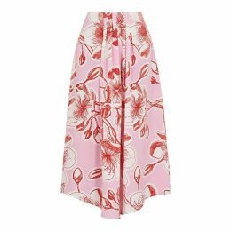 Stine Goya Blossom Floral-print Silk Midi Skirt