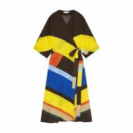 Chinti & Parker Multicoloured Modernity Silk Crepe De Chine Dress